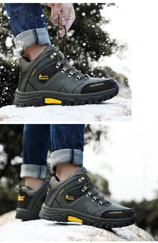 Winter Waterproof Leather Sneakers Super Warm Snow Boots for Men