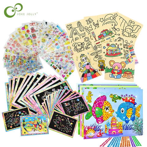 Diamond Stickers Educational Learning Drawing Toys for Kids