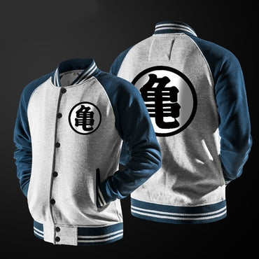 Goku Varsity Jacket Autumn Casual Sweatshirt Hoodie  Baseball Jacket