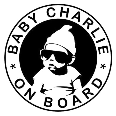 New Cool Personalised Baby On Board Car Glue Stickers