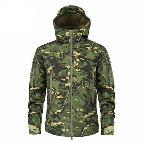 Military Camouflage Fleece Army Jacket for Men
