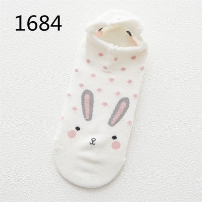 Kawaii/Cute Animal Casual Women's Low Ankle Cotton Socks