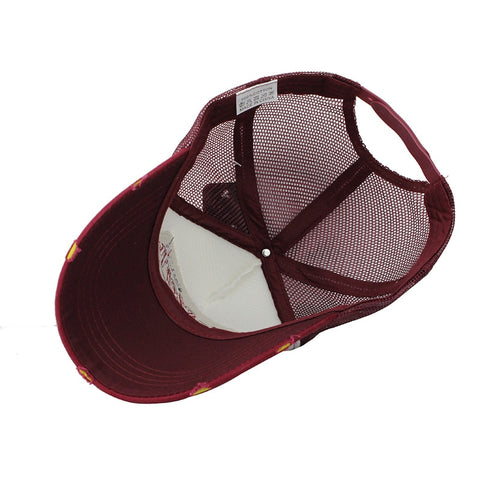Casual Embroidered Mesh Summer Baseball Hat