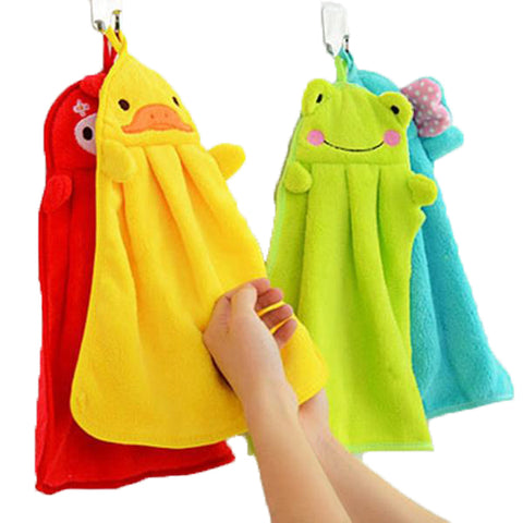 New Eco-Friendly Cartoon Style Candy Color Soft Velvet Towel for Kitchen