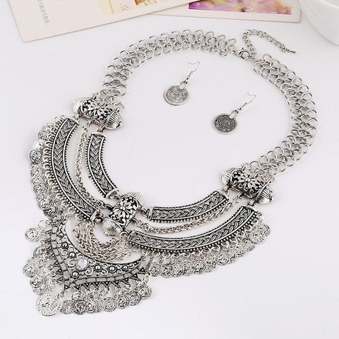 Ethnic Bohemian Maxi Vintage Collar Necklace