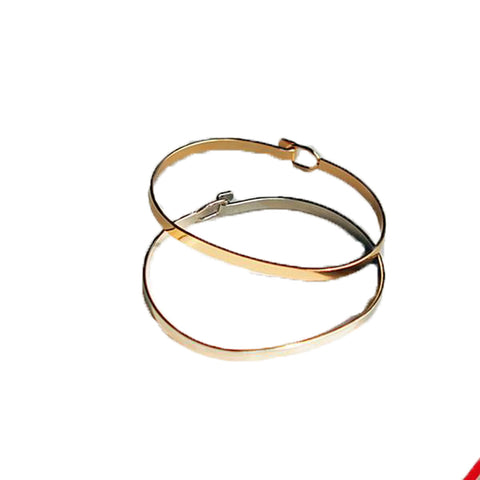 Fine Gold Simple Bangle Bracelet for Women