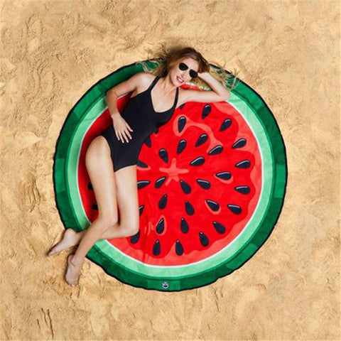Fruit Pattern Beach Towel Yoga Mat Blanket for Outdoor Training