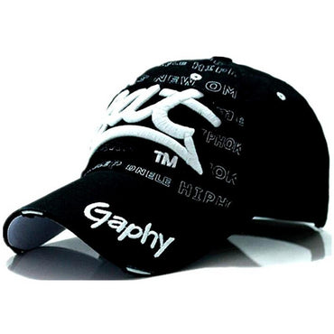 Casual Hip Hop Embroidered Curved Brim Unisex Hats