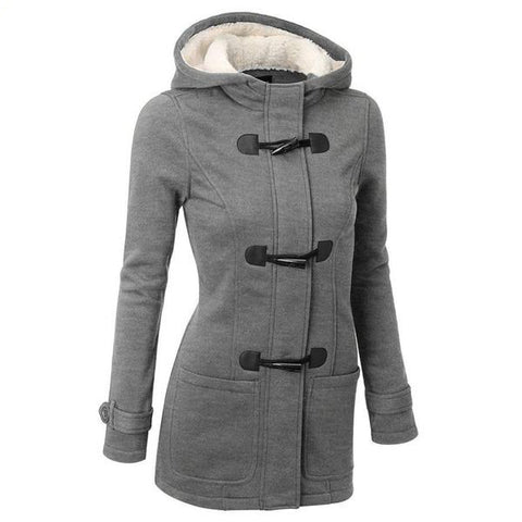 Casual Warm Hooded Zipper Overcoat Jacket