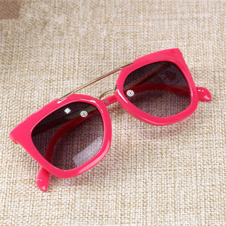Double Frame Metal Girls Sunglasses