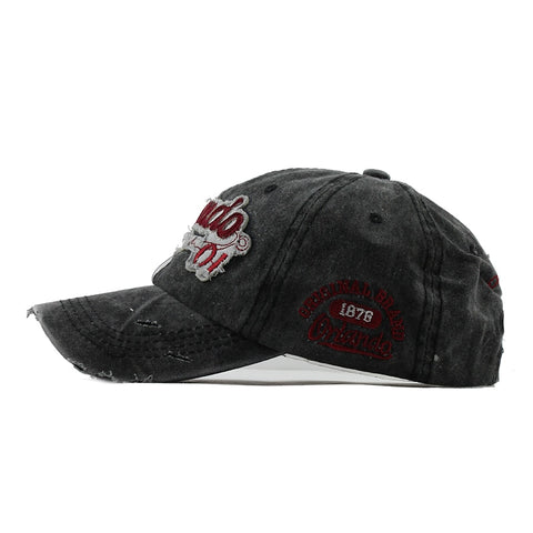 Vintage Fashion Letter Embroidered Baseball Cap