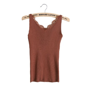 Slim Stretchable V Neck Women's Summer Knitted Camisole