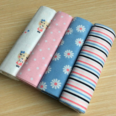 4pcs/Pack Cotton Flannel Soft Colorful Blanket