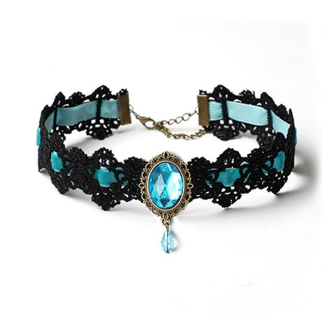 Bohemian Lace Gothic Women Choker Necklace