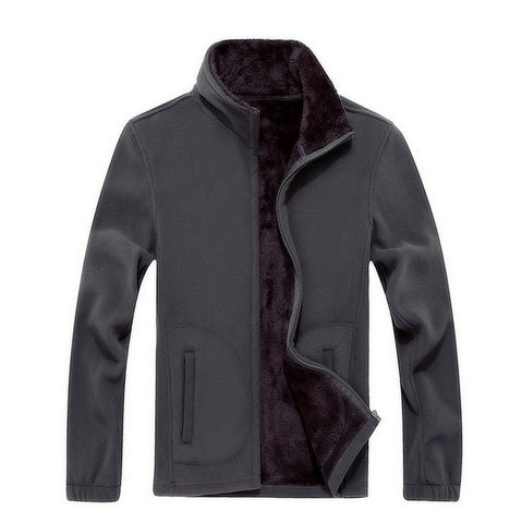 Windbreaker  Fleece Wool Liner Warm Hoodies Thermal Jacket