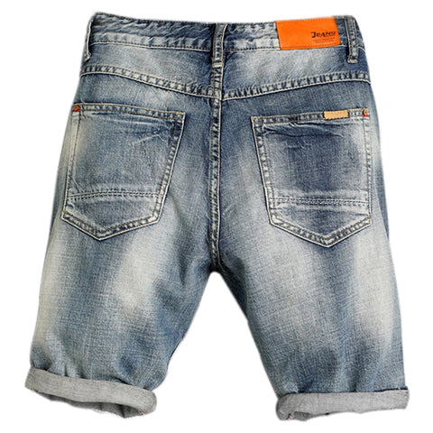 Simple Ripped Men's Denim Shorts