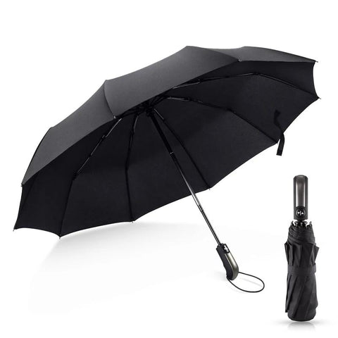 3 Folding Fully-Automatic Strong Wind Resistant Umbrella For Unisex