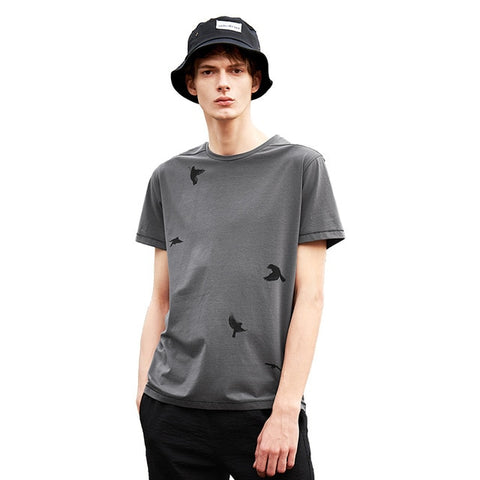 Short Sleeve  Fashion  Pattern O-Neck  Casual  Summer T-Shirt
