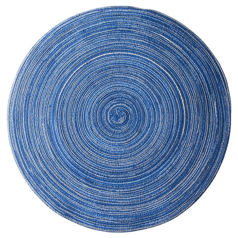 Linen Fabric Round Insulation Round Table Coaster Mat