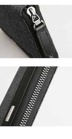 Casual Long Solid Men's Wallet Card Holder