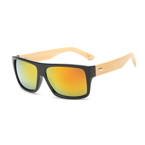 Bamboo Wood UV Unisex Sunglasses