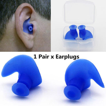 Silicone Waterproof Dust-Proof 1 Pair Soft Ear Plugs For Unisex