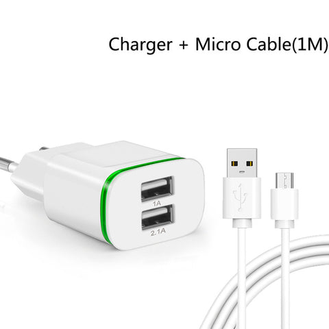 Dual USB Ports Charger Mobile Phone Adapter