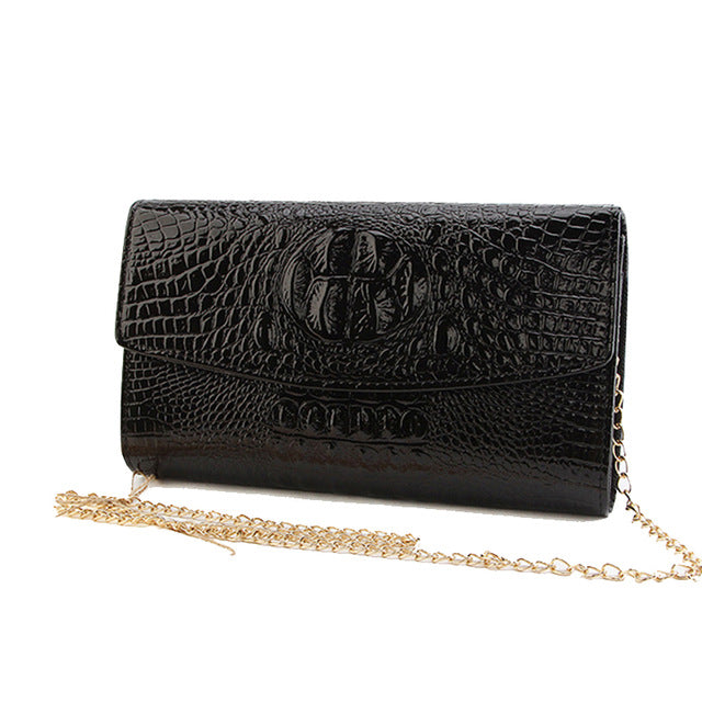 Women's Evening Party Gold Chain Clutch Bag