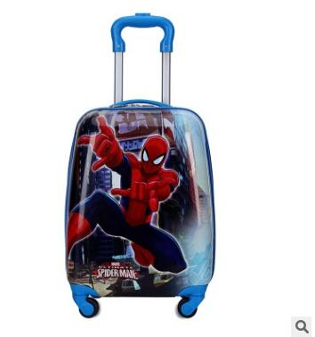 Cute Cartoon Print & Shaped Wheeled Trolley Luggage Suitcase