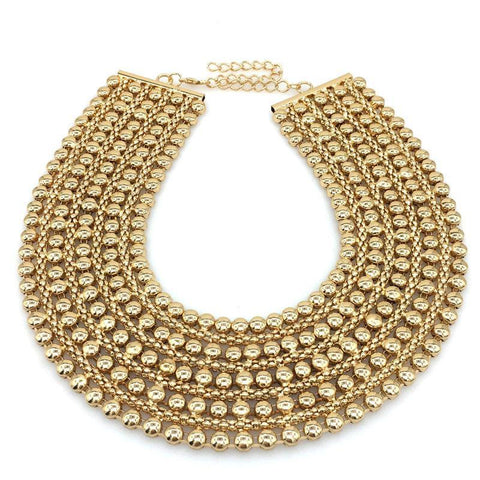 Metal Beads Vintage Maxi Collar Necklaces