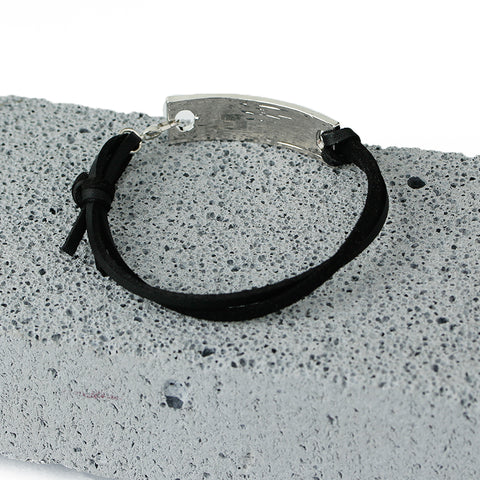 Leather Velvet Printed Unisex Bangle Bracelet