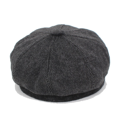 Octagonal Winter Fashion Striped Beret Hat
