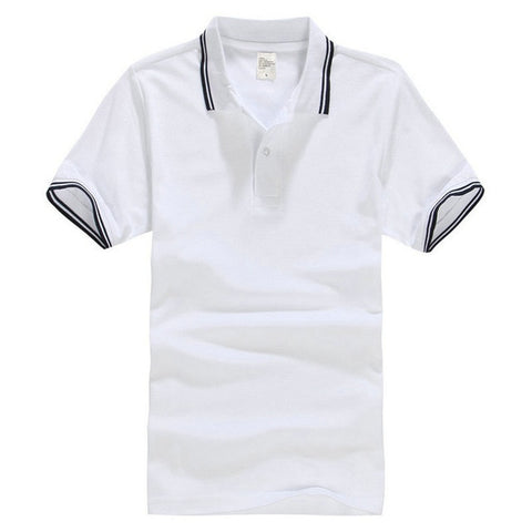 Cotton Short Sleeve Turn Down Collar Polo Jersey T-Shirt
