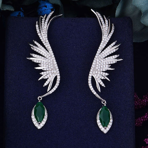 Feather Fashion Luxury Iregular Geometry Earring