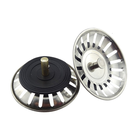 New Stainless Steel Sink Filter Stopper Plug for Basin Drainer
