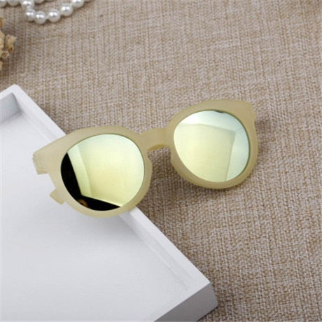Multi Colors Shade Plastic Frame Sunglasses for Kids