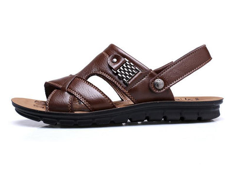 Trendy Non-Slip Leather  Men Sandals