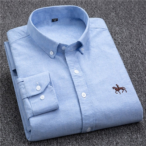 Turn Down Collar Slim Fit Full Sleeve Men's Shirt