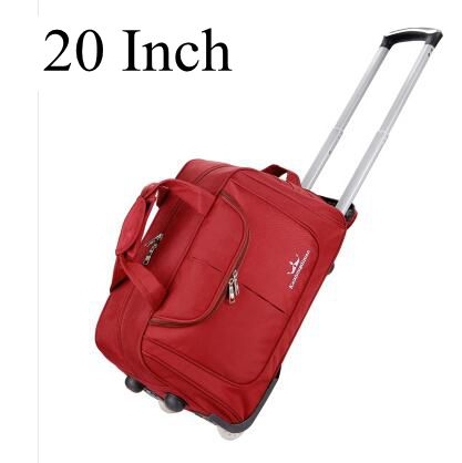 Double Use Unisex Business Travel Trolley Rolling Bag