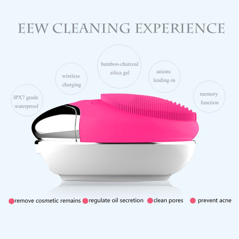 USB Base Charge Deep Cleaning Electric Dry And Wet Face Cleanser