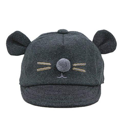 Cute Cartoon Rat Pattern Unisex Fashion Cap