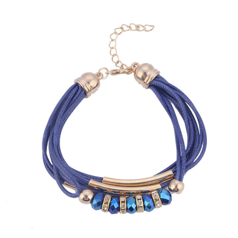 Fashion Beads Leather Charm Bracelets for Women
