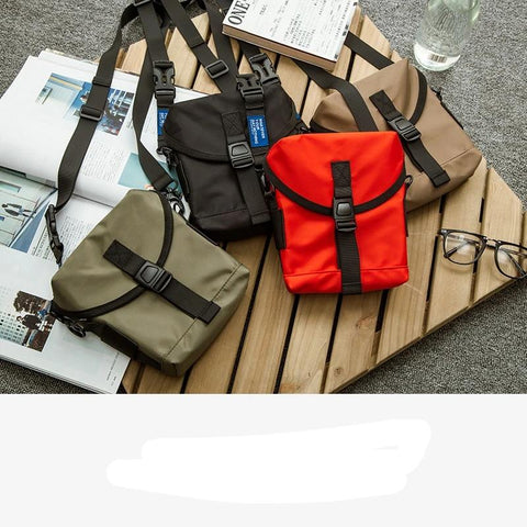 Casual Polyester Box Shape Men Small Pouch Waist Backpack