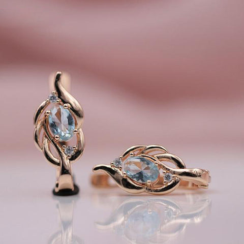Oval Shaped Zircon Dangle Earrings