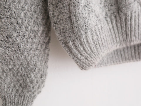 Warm Crew Neck Knitted Sweater