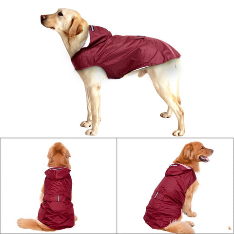 Waterproof Big Dog Coat-Rain Jacket