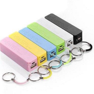 Portable 2600mAh External USB Power Bank with Key Chain