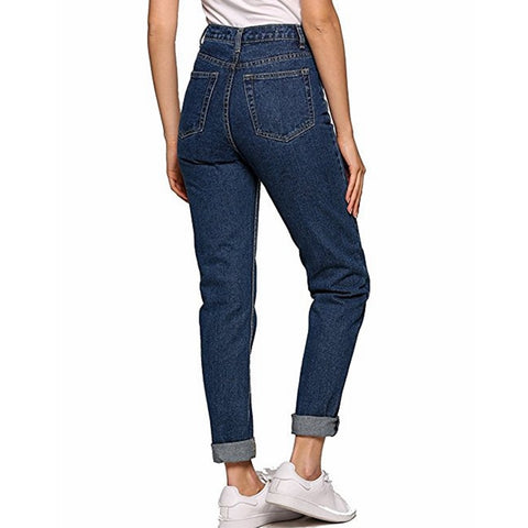 Vintage Retro Looking Casual Women's High Waist Jeans