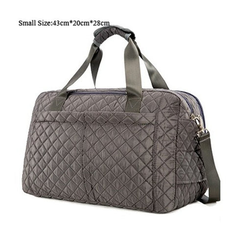 Plaid Style Large Capacity Casual Shoulder Travel Bag
