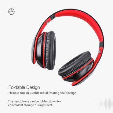 New Adjustable Foldable Over Ear Stereo Bluetooth Headphone with Mic